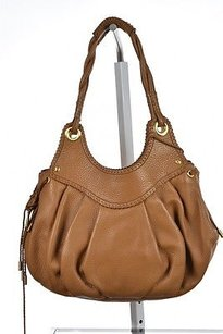 Maxx New York Womens Textured Satchel in Tan