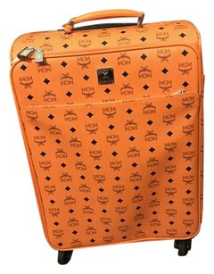 MCM Luggage Travel Trolley Orange Cognac Travel Bag