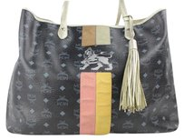 MCM Monogram Tote in Black