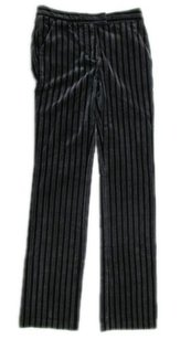 MCQ by Alexander McQueen Gray Striped Crushed Velvet Pants