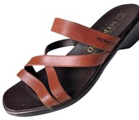 Mephisto Comfortable Walking Thong Brown Sandals