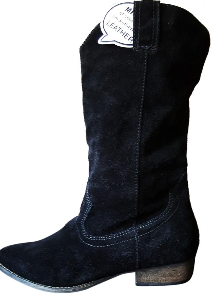 0d4af4b8c32e MIA Dark Black Suede New New New Boots Booties Size US 8.5 Regular ...