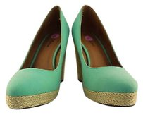 Michael Antonio Womens Teal Wedge Heels Blue Platforms