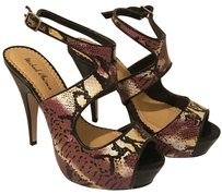 Michael Antonio Snakeskin Black/Brown Platforms