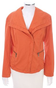Michael by Michael Kors Zipper Cotton TANGERINE Jacket