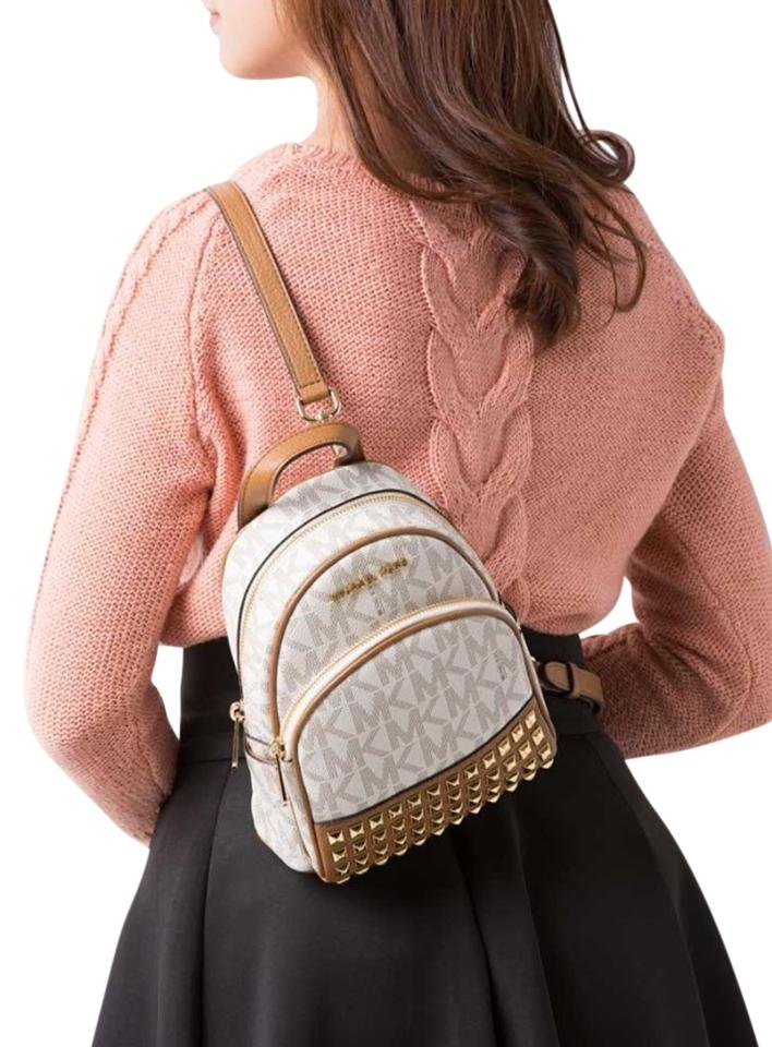 64218ebb7d4c ... mk signature stud acorn a860b 8ada5  coupon code for michael kors  leather black abbey backpack 62221 a54ca