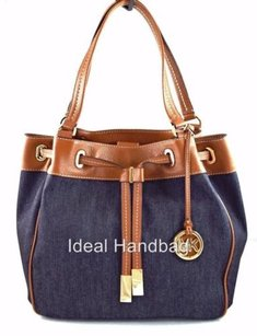 Michael Kors Marina Denim Tote in Blue