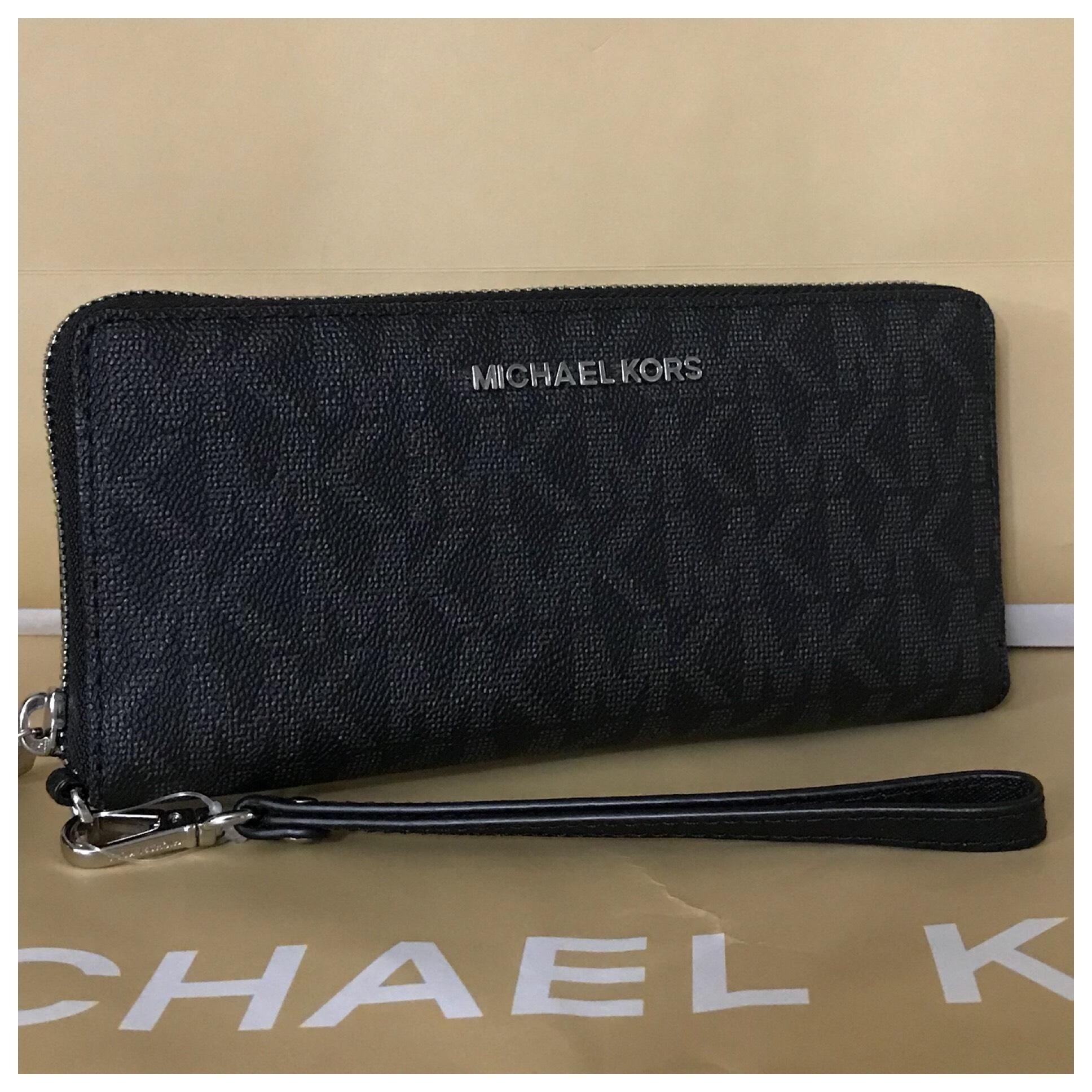 aee6e06de817 ... sale free shipping today overstock 11099427 50aad 77f95; spain michael  kors nwt mk jet set travel continental wallet 474f3 6fdc4