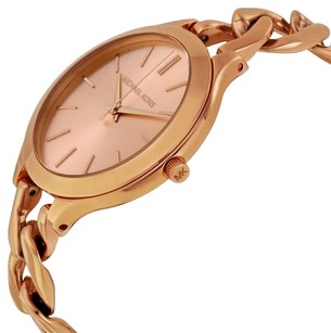 Michael Kors CHAEL KORS Slim Runway Rose Dial Rose Gold-tone Ladies Watch