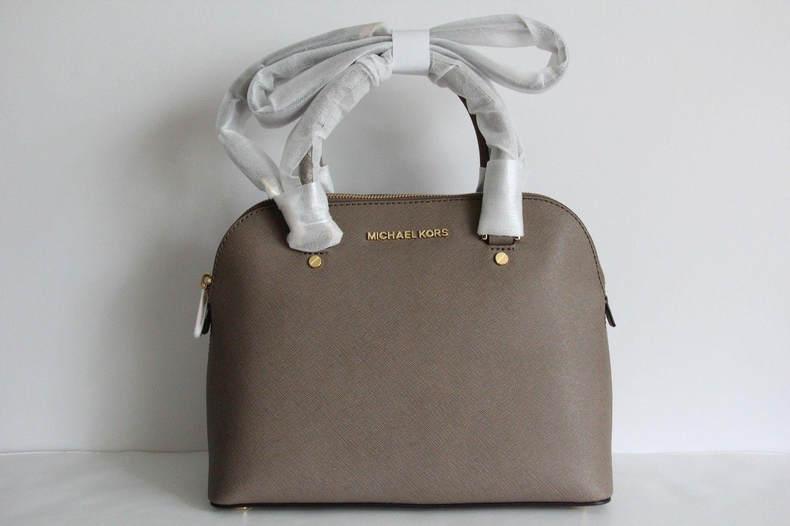 47f48e538d ... canada michael kors cindy medium dome leather satchel in dark dune.  123456789 f1ae3 2d0e5