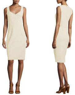 Michael Kors Collection Sleveless V-neck Date Bodycon Fitted Dress