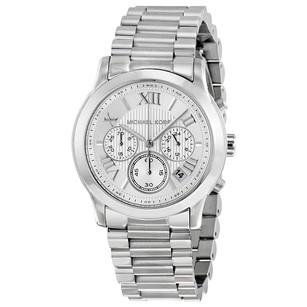 Michael Kors Cooper Chronograph Silver Dial Stainless Steel Ladies Watch