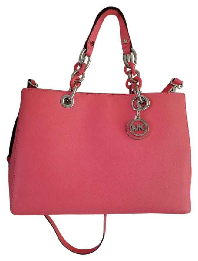 bf88b3628df8 shopping michael michael kors cynthia medium soft pink saffiano leather  satchel bag 68e9a 6a510; new arrivals michael kors satchel in coral 1ff12  745fb
