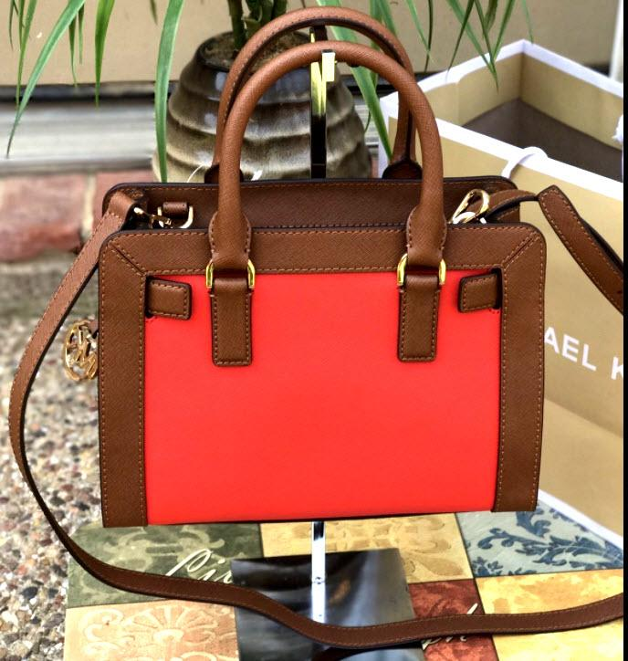 af5e7a44f2af ... uk michael kors dillon small monogram brown crossbody strap satchel in  sienna red luggage. 123456789