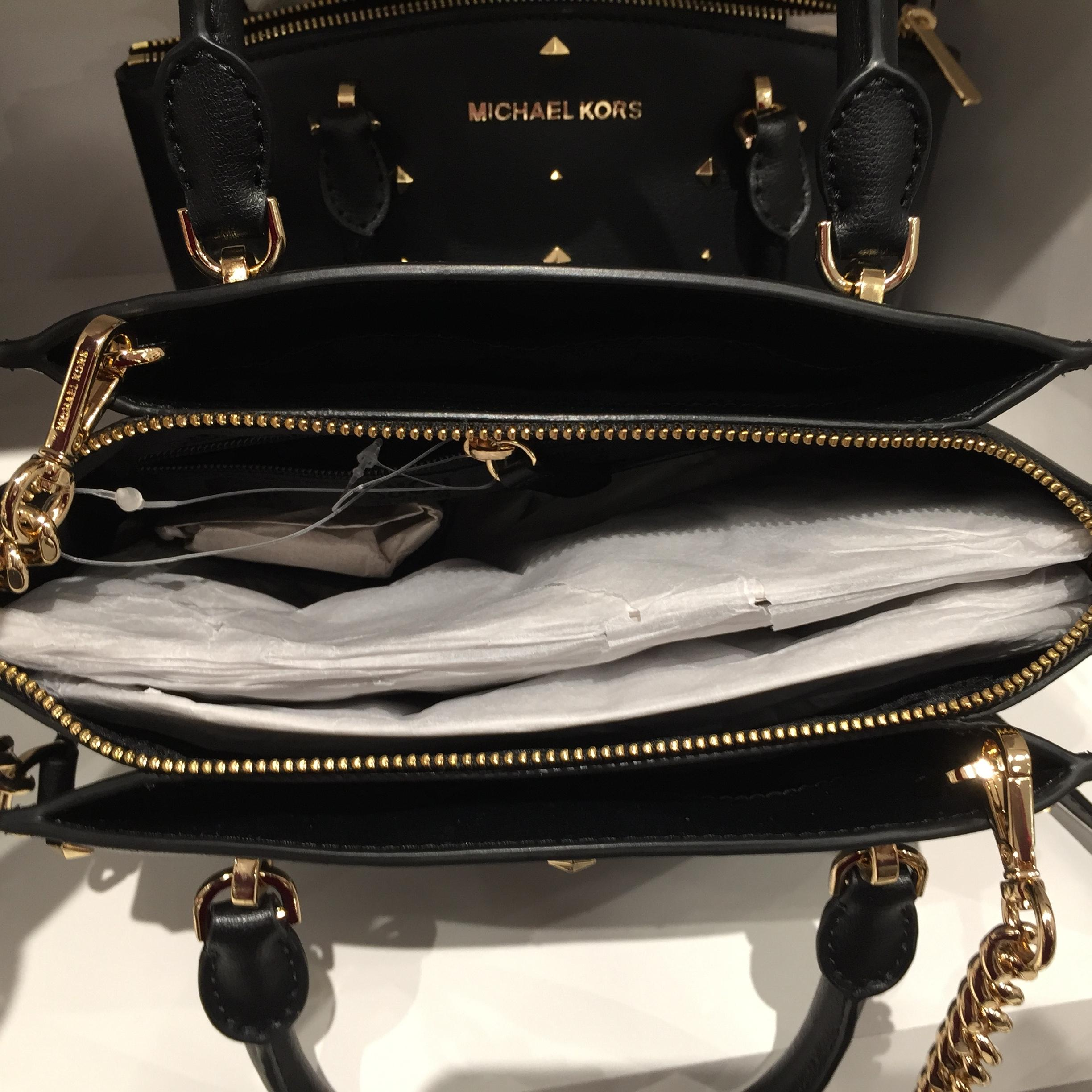 f5f6712468c3 ... australia michael kors mk ellis small gold studs crossbody strap  matching walle satchel in black.