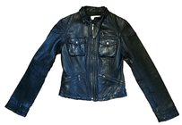 Michael Kors Leather Motorcycle Edgy Leather Jacket