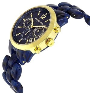 Michael Kors Michael Kors Audrina Navy Blue Tort Acetate Watch +MK box