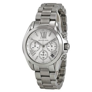 Michael Kors Michael Kors Bradshaw Chronograph Silver Dial Stainless Steel Ladies Watch