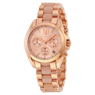 Michael Kors Michael Kors Bradshaw Mini Chronograph Rose Dial Rose Gold-tone Ladies Watch