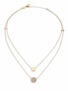 Michael Kors Michael Kors Brilliance Layered Disc Chain Necklace