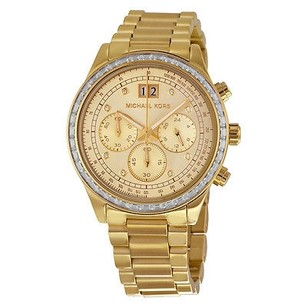 Michael Kors Michael Kors Brinkley Chronograph Gold Dial Gold-tone Ladies Watch