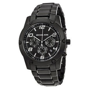 Michael Kors Michael Kors Caine Chronograph Black IP Watch MK8473