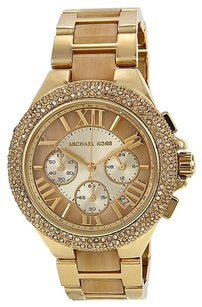 Michael Kors MICHAEL KORS Camille Gold-tone and Horn Acetate Ladies Watch