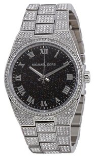 Michael Kors MICHAEL KORS Channing Black Crystal Pave Stainless Steel Watch mk6089