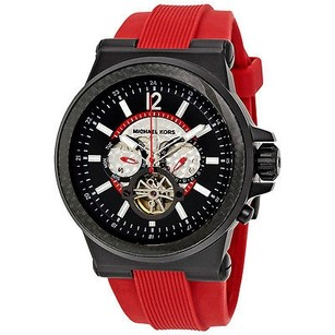 Michael Kors Michael Kors Dylan Oversize Red Silicone Automatic Mens Watch