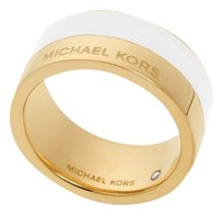 Michael Kors with BONUS..LAST ONE..Gold-Tone Colorblocked Band Ring