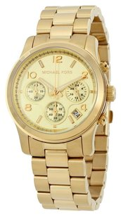 Michael Kors MICHAEL KORS Midsized Chronograph Gold-tone Unisex Watch