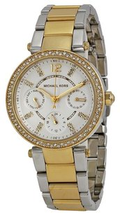 Michael Kors MICHAEL KORS Mini Parker White Glitz Dial Steel Ladies Watch MK6055