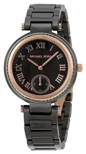 Michael Kors MICHAEL KORS Mini Skylar Black Dial Ceramic Ladies Watch