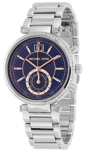 Michael Kors Michael Kors MK6224 Sawyer Blue Dial Stainless Steel Chronograph Women