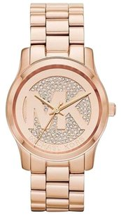 Michael Kors Michael Kors Rose Gold-Tone Glitz Dial Midsized Watch MK5358