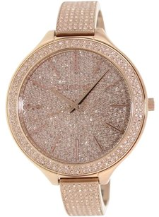 Michael Kors Michael Kors Runway Pink Crystal Gold-tone Ladies Watch MK3251
