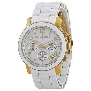 Michael Kors Michael Kors Runway Silver Dial White Polyurethane Ladies Watch