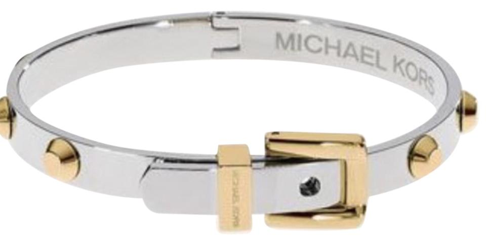 Michael Kors Gold Silver And Belt Buckle Bracelet Tradesy