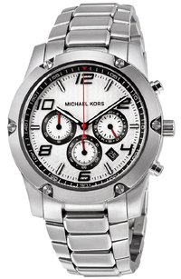 Michael Kors Michael Kors Silver Dial Chronograph Stainless Steel Watch