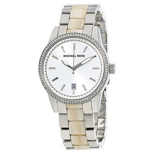 Michael Kors Michael Kors Silver Dial Steel And Acrylic Ladies Watch