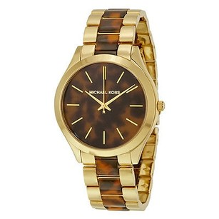 Michael Kors Michael Kors Slim Runway Tortoise-shell Dial Ladies Watch