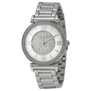 Michael Kors Michael Kors Caitlin Silver Crystal Pave Dial Ladies Watch