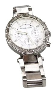 Michael Kors Michael Kors Mk5353 Stainless Steel Crystal Crusted Round Face Chrono Watch