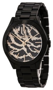 Michael Kors Michael Kors Watches Slim Runway Zebra Dial Watch (Black Zebra) MK3316