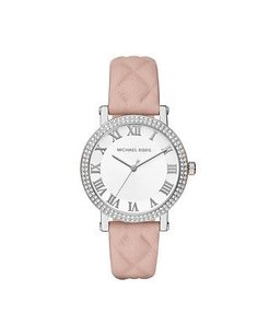 Michael Kors Michael Kors White Sunray Dial Ladies Quilted Leather Watch