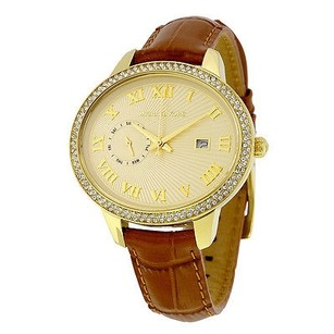 Michael Kors Michael Kors Whitley Champagne Dial Amber Brown Leather Ladies Watch