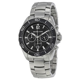 Michael Kors Michael Kors Windward Chronograph Black Dial Stainless Steel Ladies Watch
