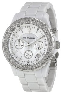 Michael Kors Michael Kors Women's Madison Pearl Resin Glitz Chronograph Watch