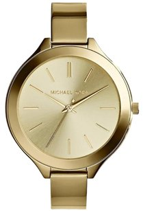 Michael Kors Michael Kors Women's Slim Gold tone Bracelet Watch NEW! $195