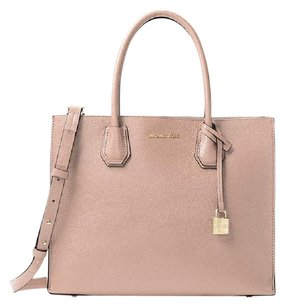 Michael Kors Mk Mercer Leather 30f6gm9t3l Tote in Ballet